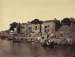 Meer and Lalita Ghats and the Nepalee's Temple [Benares].